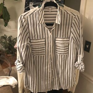 Express button down Striped shirt small
